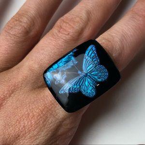 Handmade 90s butterfly ring 🦋